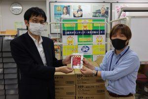 三菱電機株式会社から牛丼を提供いただきました