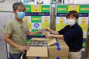 NPO法人日本もったいない食品センターからラムネ菓子を提供いただきました